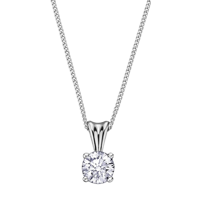I Am Canadian Diamond Solitaire Necklace