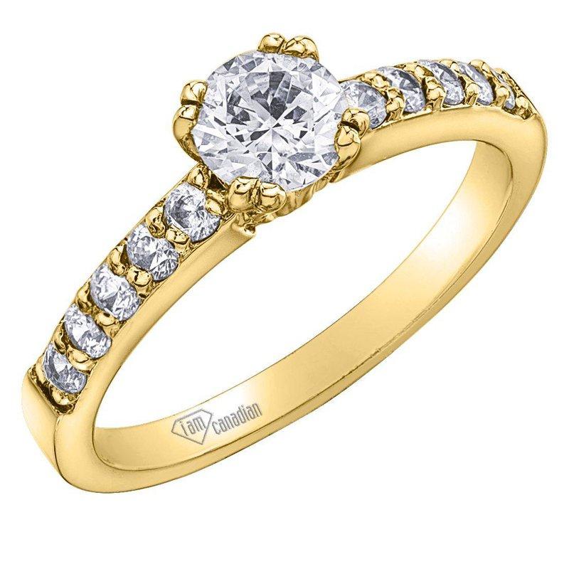 I Am Canadian Diamond Engagement Ring