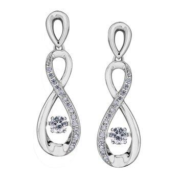 Diamond Dangle Pulse Earrings