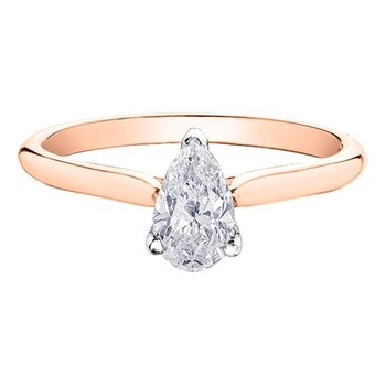 .50 carat Pear Shaped Diamond Solitaire Ring