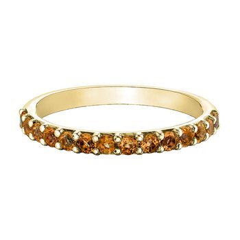 Ladies Stackable Citrine Band
