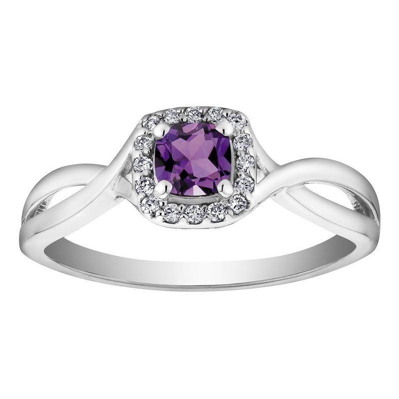 Ashley Amethyst & Diamond Ring