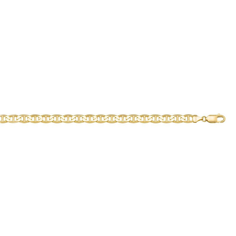 """Ashley 3.5mm Flat Anchor Chain In 10kt Gold - 22"""""""