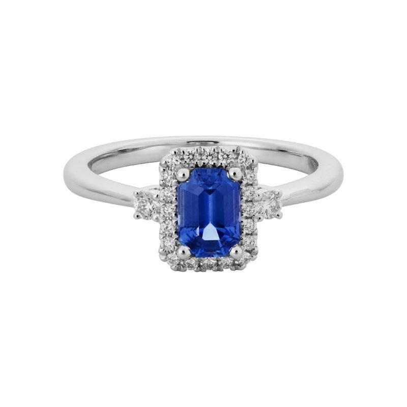 Ashley Sapphire & Diamond Ring
