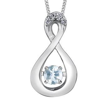 Aquamarine & Diamond Pulse Necklace