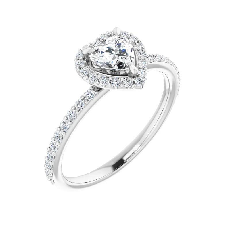 Ashley Heart Engagement Ring