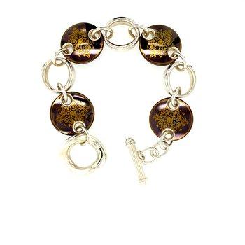 Titanium & Sterling Silver Bracelet
