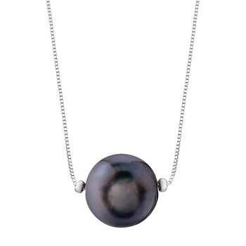 Black Pearl Drop Necklace