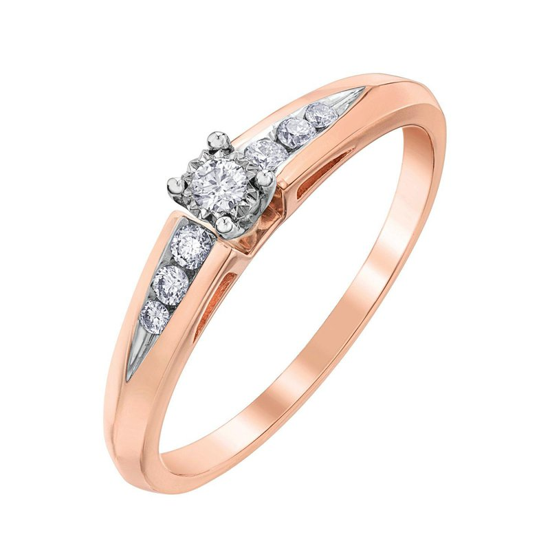 Ashley Rose gold Diamond Set Engagement Ring