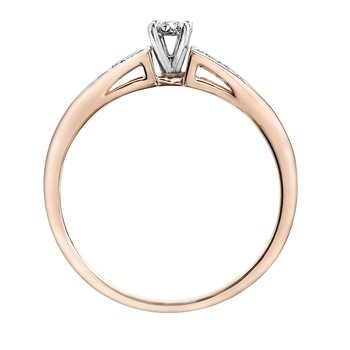 Rose gold Diamond Set Engagement Ring
