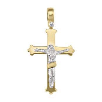 Two Tone Gold Cross
