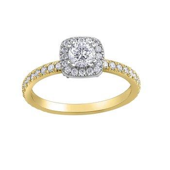1.77 Carat Diamond Halo Ring