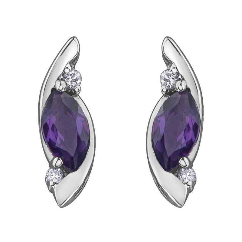 Ashley Amethyst & Diamond Earrings