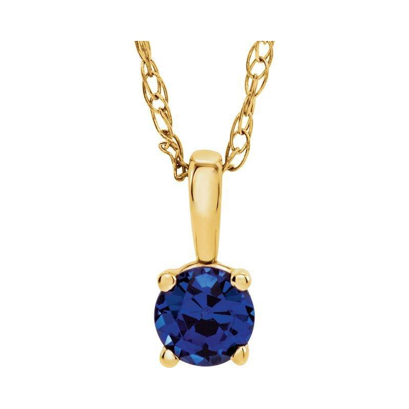 Ashley Children's Necklace - September Birthstone