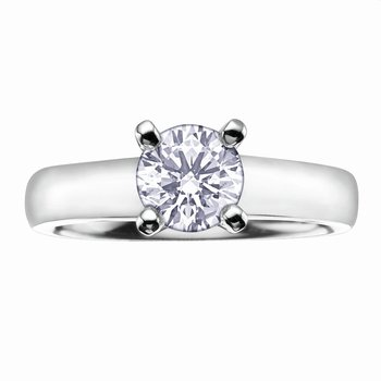 Solitaire Semi-Mount Engagement Ring