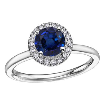 Ladies Sapphire & Diamond Ring