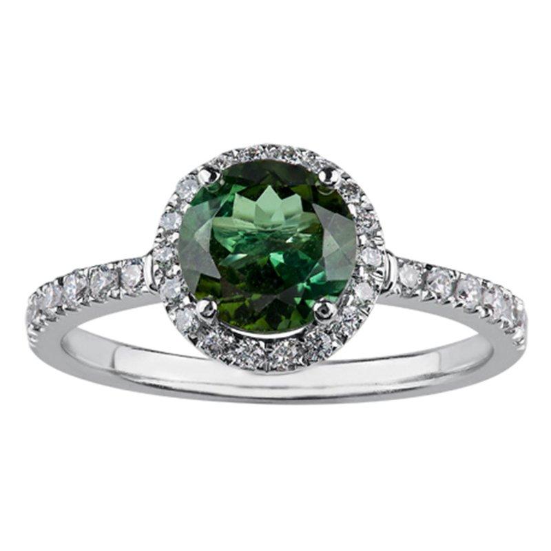 Ashley Tourmaline & Diamond Ring