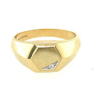 Gent's diamond set signet ring.