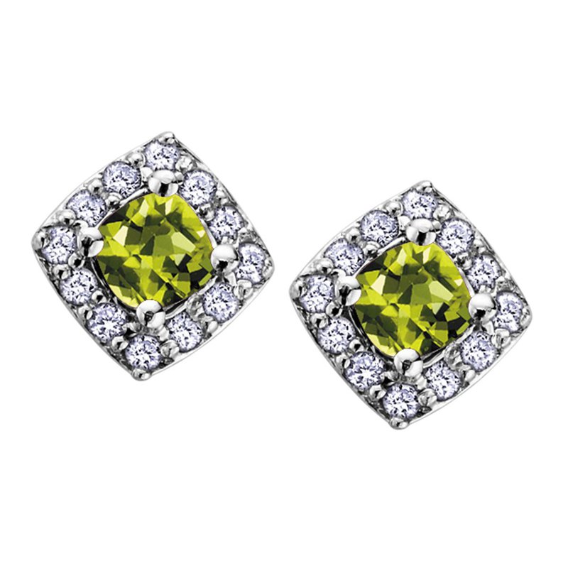 Ashley Peridot Stud Earrings