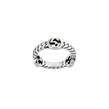 Interlocking G Sterling Silver 3.5mm XS Ring YBC661523001Size 7 (14)
