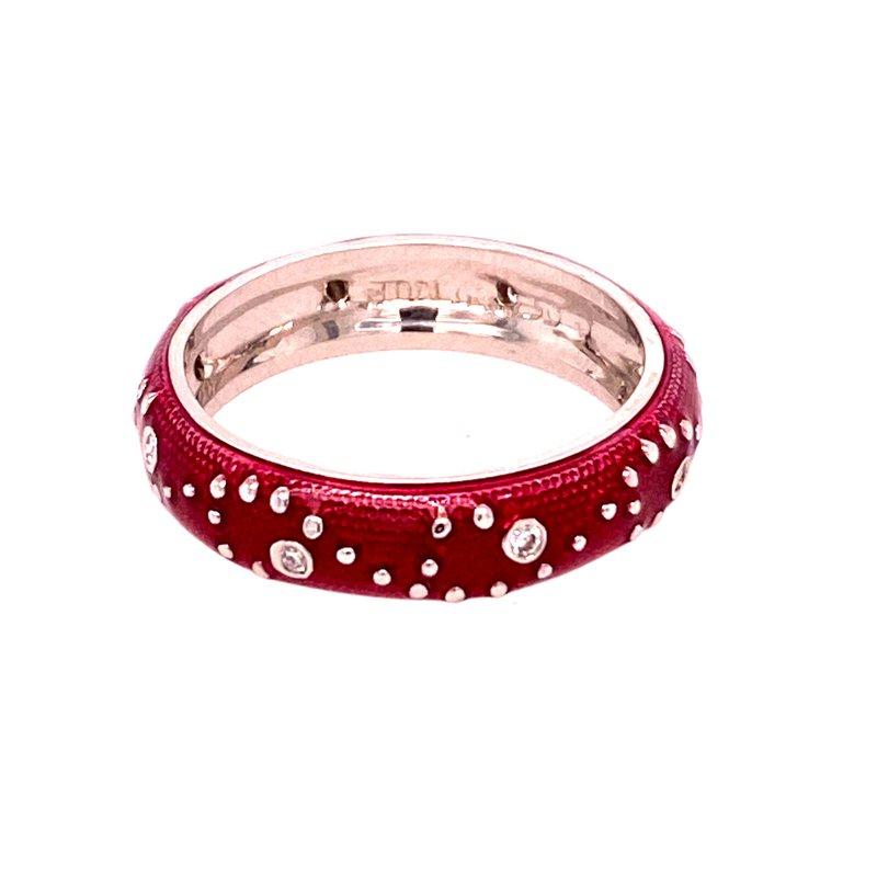 Ashley Fushia Enamel and Diamond Ring