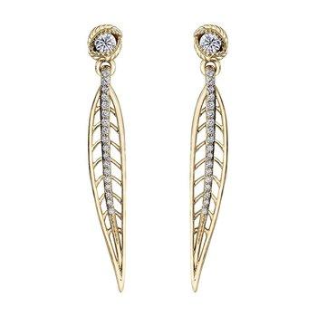 Shelley Purdy Canadian Maple Leaf Diamond Earrings