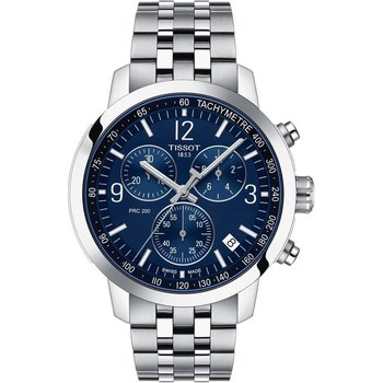 T1144171104700 Mens T-Sport PRC 200 Blue Dial Stainless Steel Watch