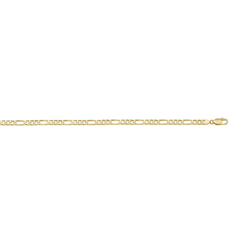 """Ashley 3.1mm Figaro Chain in 10kt Gold - 18"""""""