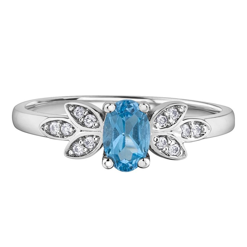 Ashley Blue Topaz & Diamond Ring