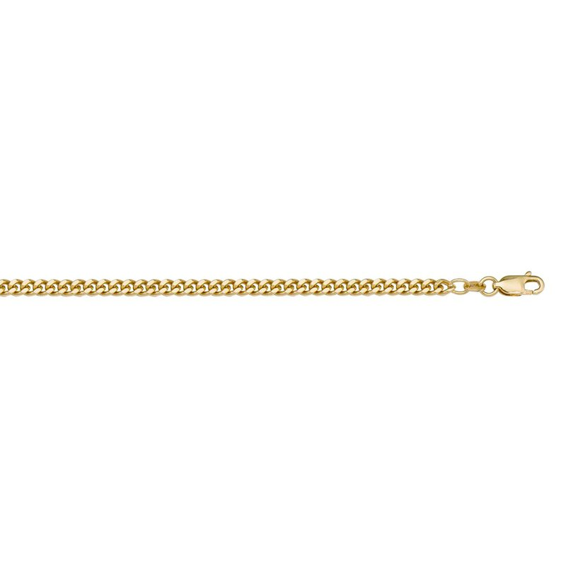 Ashley 1.8mm Curb Chain In 10kt Gold - 16""