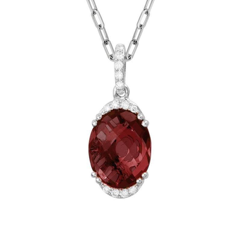 Ashley Garnet & Diamond Necklace