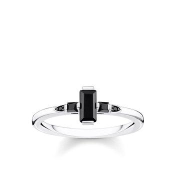 Silver & Black Ring