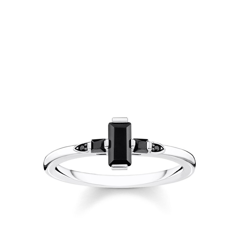 Thomas Sabo Silver & Black Ring