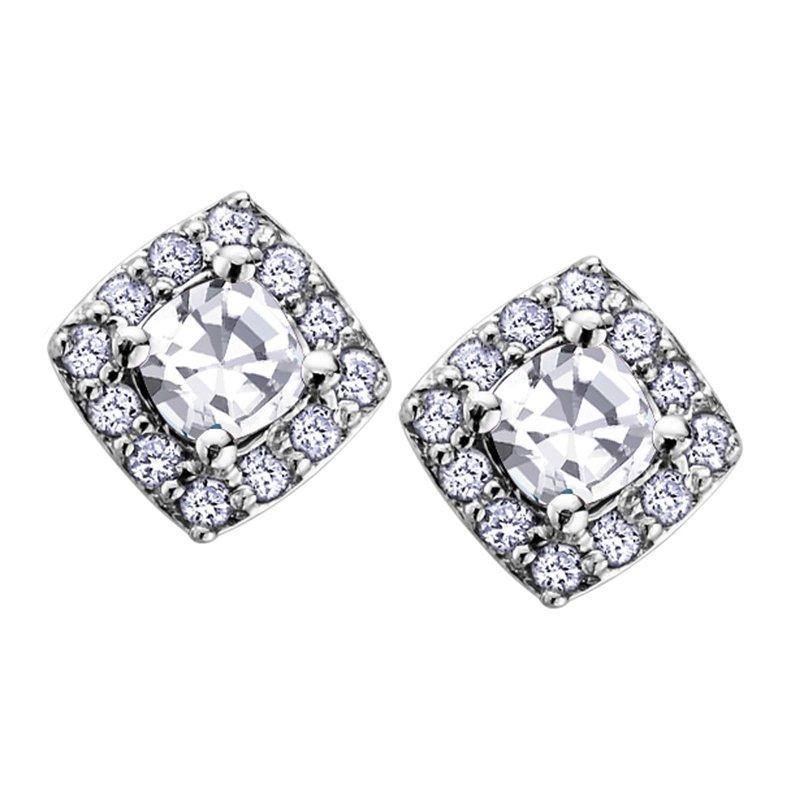 Ashley White Topaz Stud Earrings