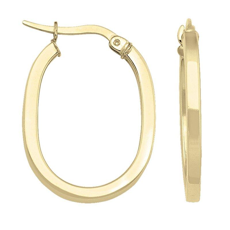 Ashley Oval Hoop Earrings