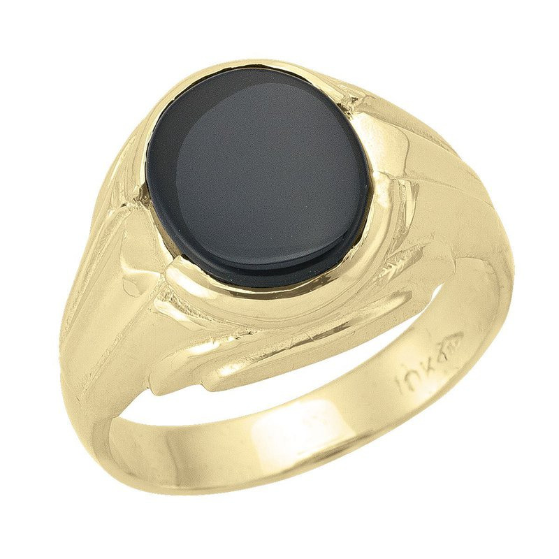 Ashley Men's Black Onyx Ring
