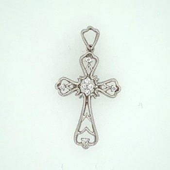 Diamond set cross