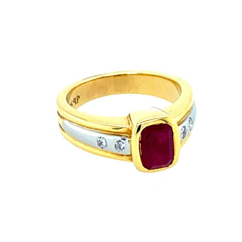Ashley Ladies Ruby & Diamond Ring