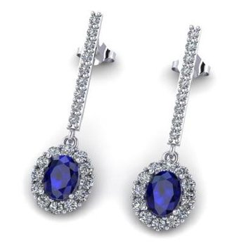 "Sapphire & Diamond ""One-of-a Kind"" earrings"