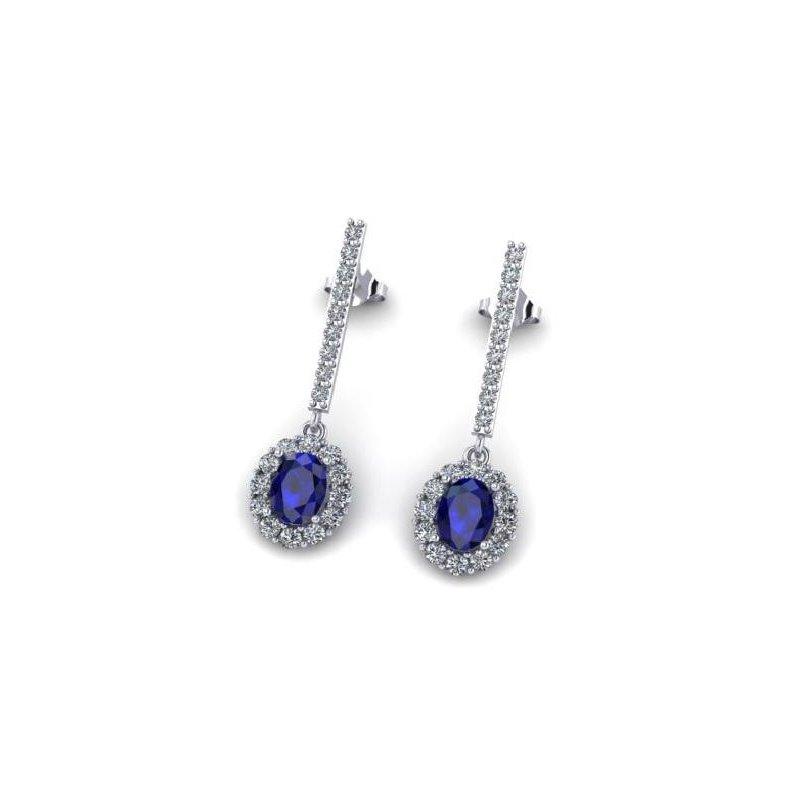 """Ashley Sapphire & Diamond """"One-of-a Kind"""" earrings"""