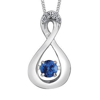 Sapphire & Diamond Pulse Necklace