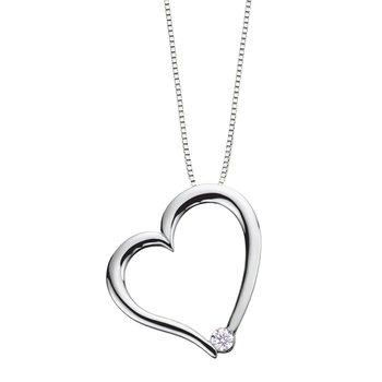Canadian Diamond Heart Necklace
