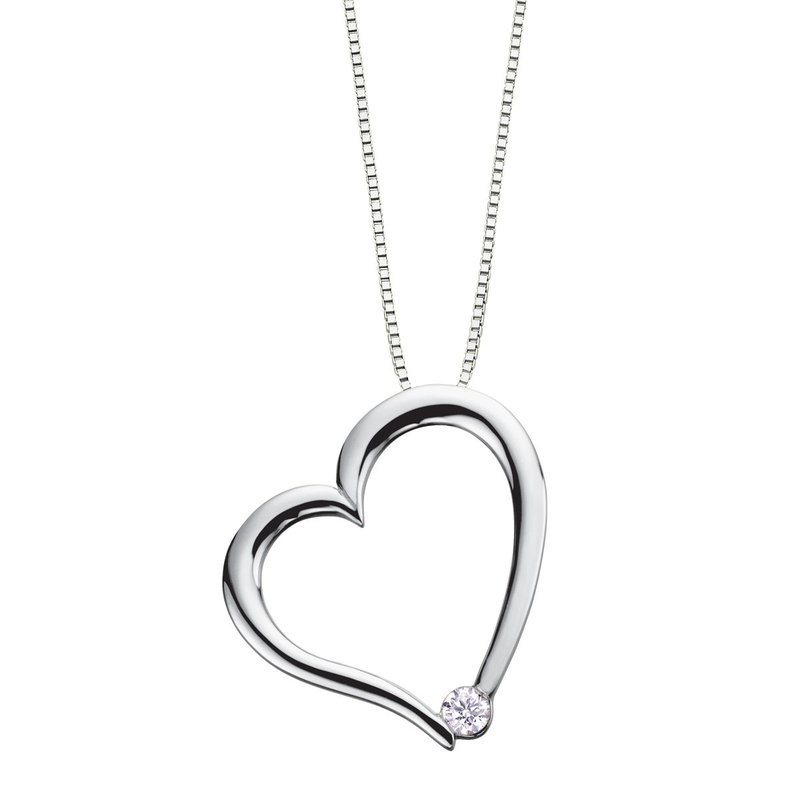 I Am Canadian Canadian Diamond Heart Necklace