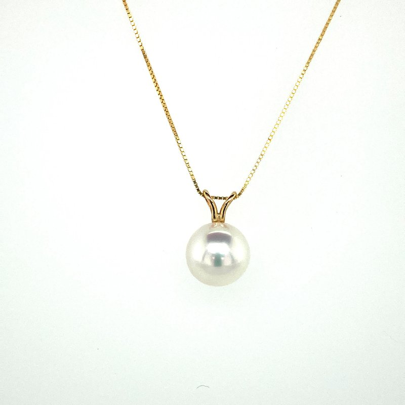 Ashley Pearl Drop Necklace 8.5mm
