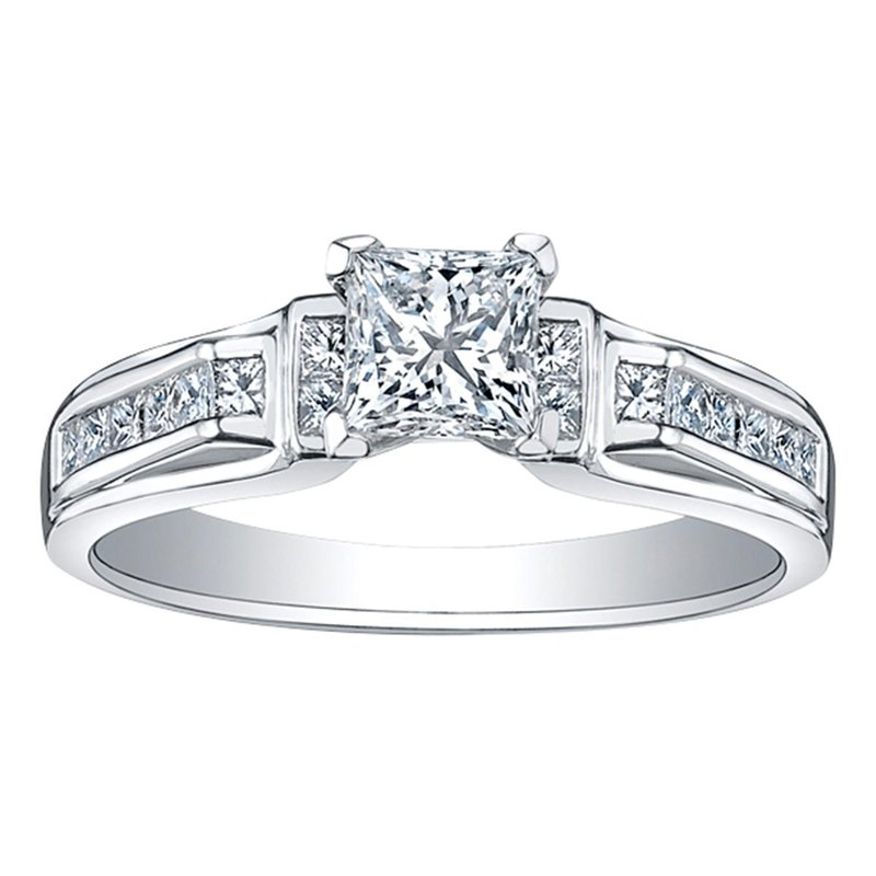 Ashley Accent Diamond Semi-Mount Engagement Ring