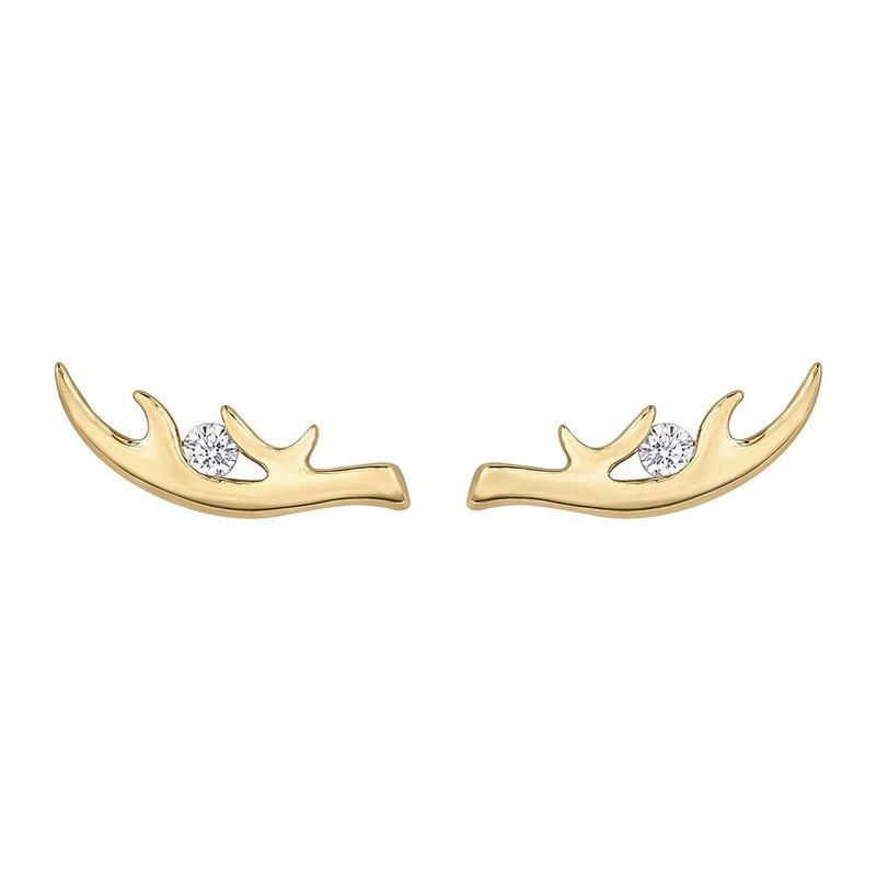 I Am Canadian Antler Earrings