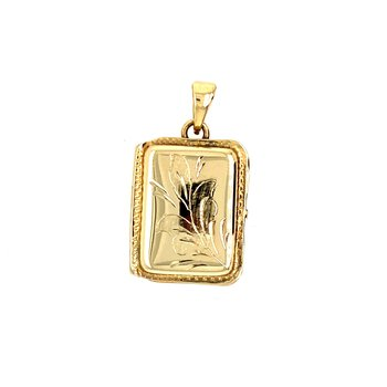 Yellow Gold Retangular Locket