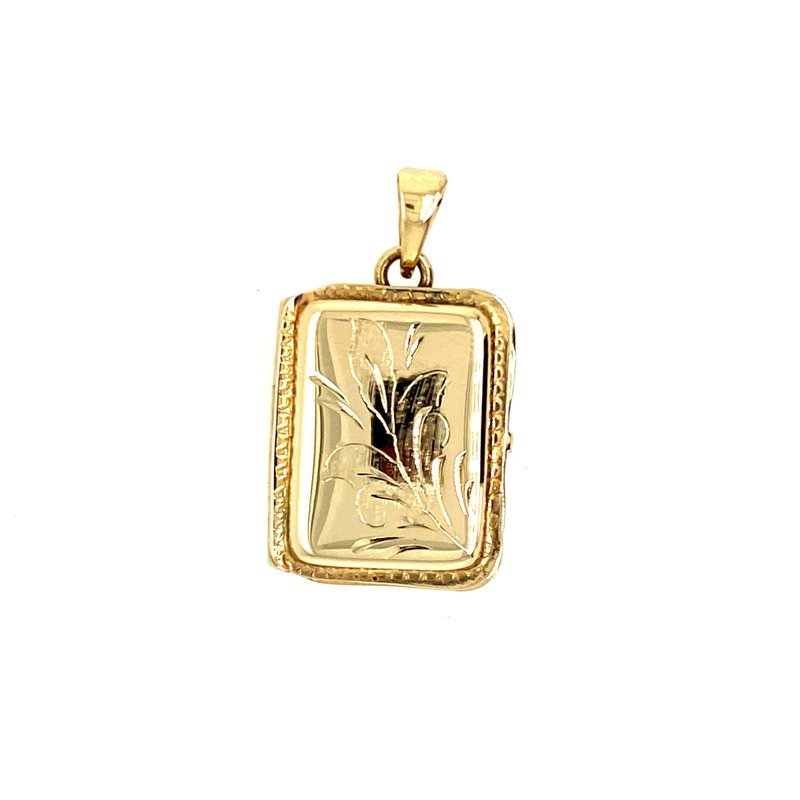 Ashley Yellow Gold Retangular Locket