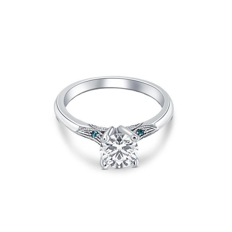 Ashley Solitaire Semi-Mount Engagement Ring