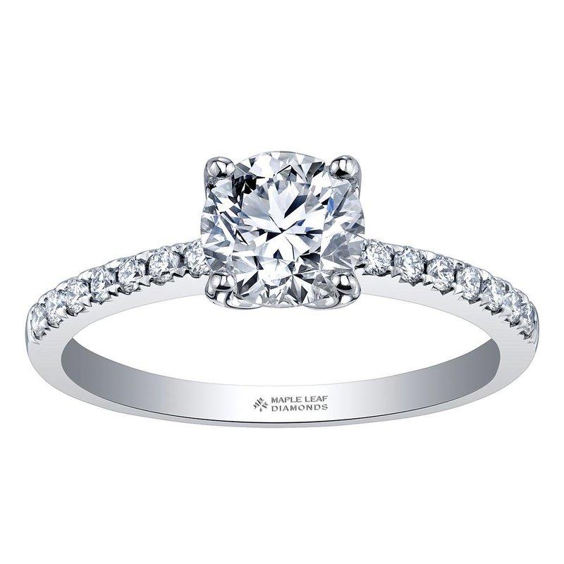 Ashley 14k White Gold Pavé Diamond Engagement Ring
